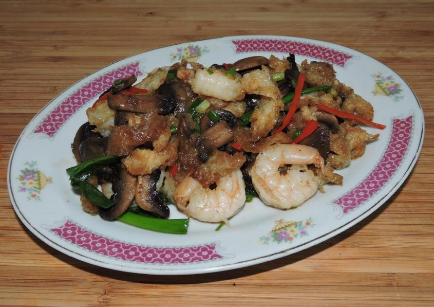 Fish Maw Stir-Fried with Shrimp 01