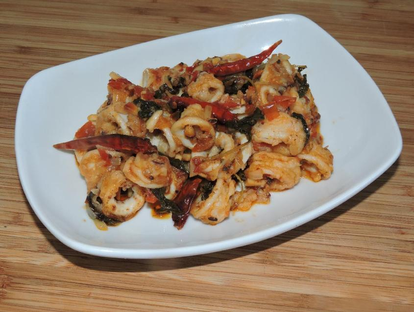 Chili Basil Squid 1