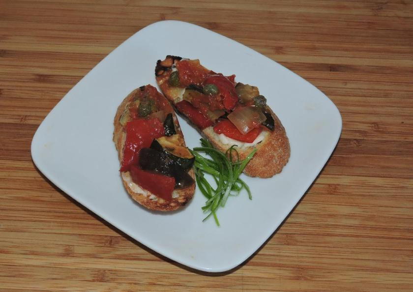 Ratatouille Bruschetta