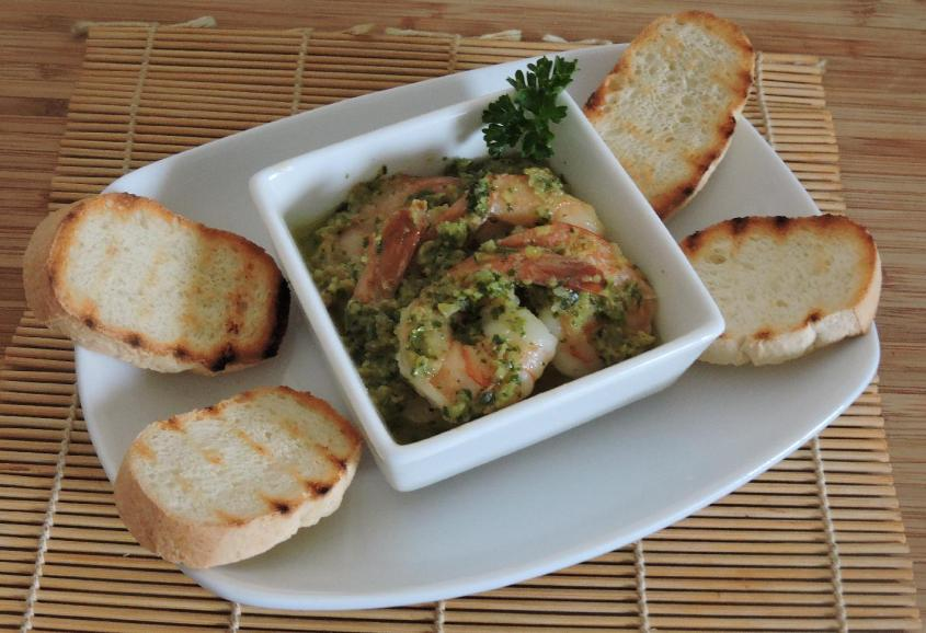 Shrimp with Pesto 1