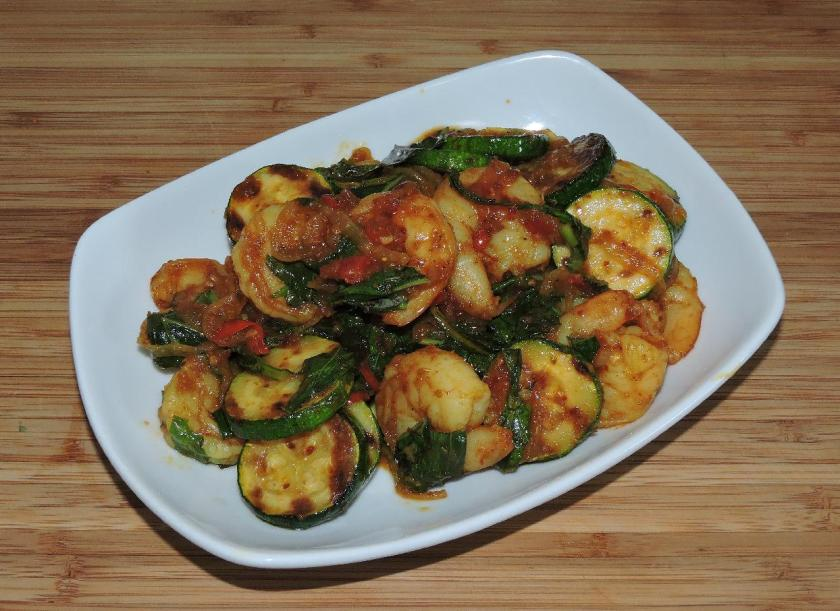 Spicy Basil Shrimp 1