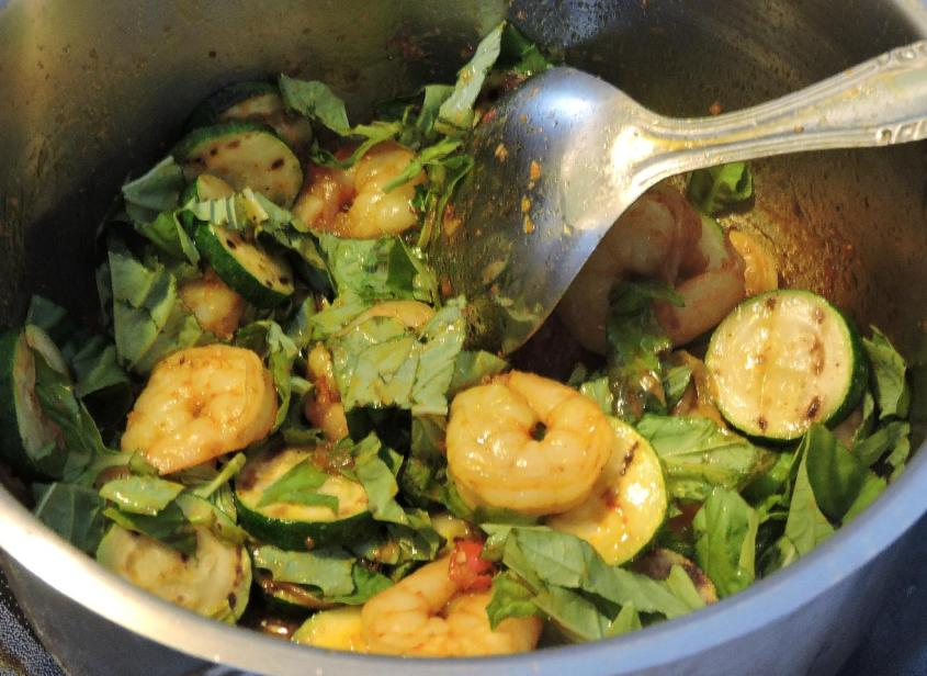 Spicy Basil Shrimp 6