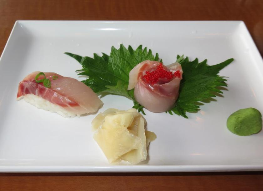 Sea Bass Sashimi and Sushi 1